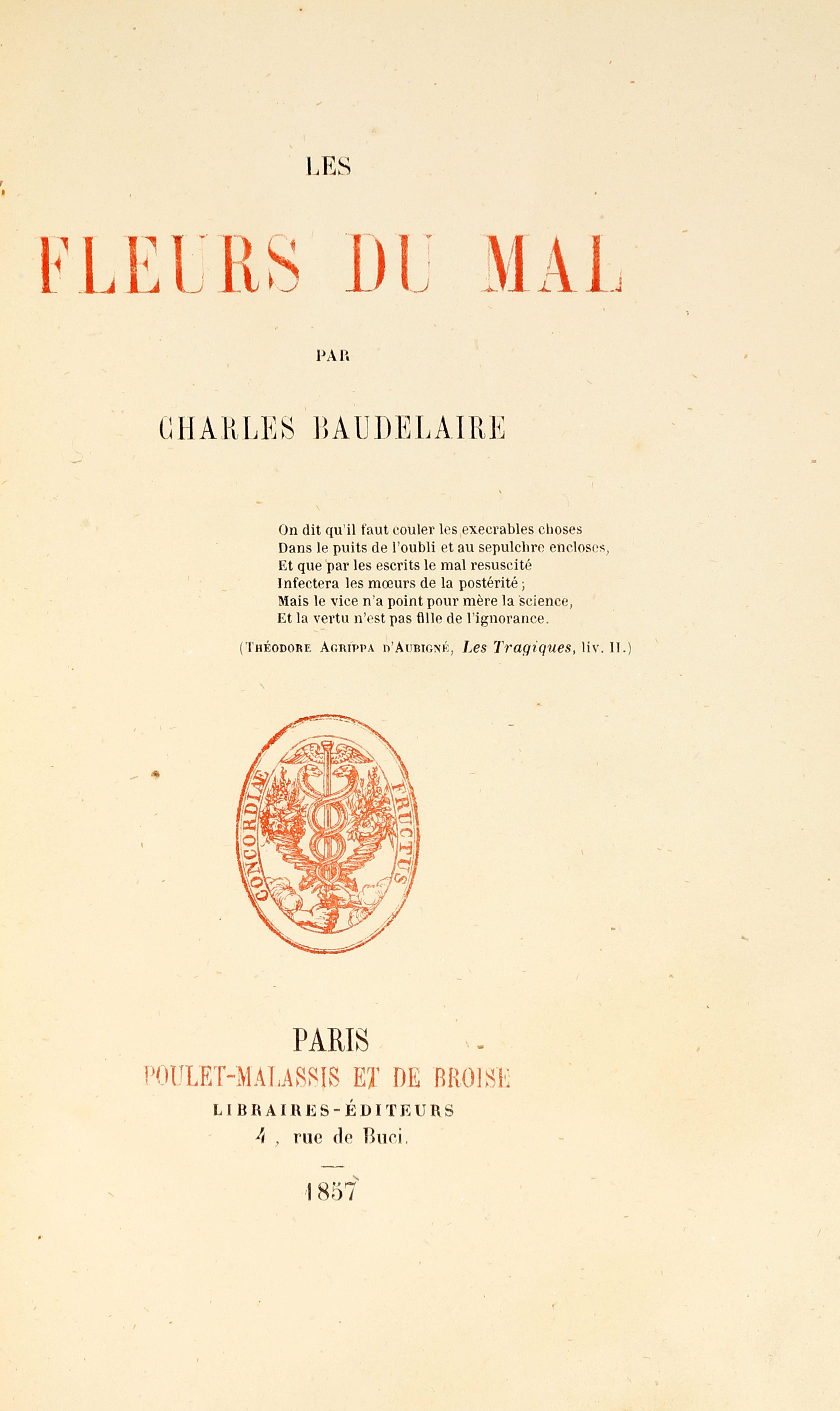 Charles Baudelaire Fleurs du Mal
