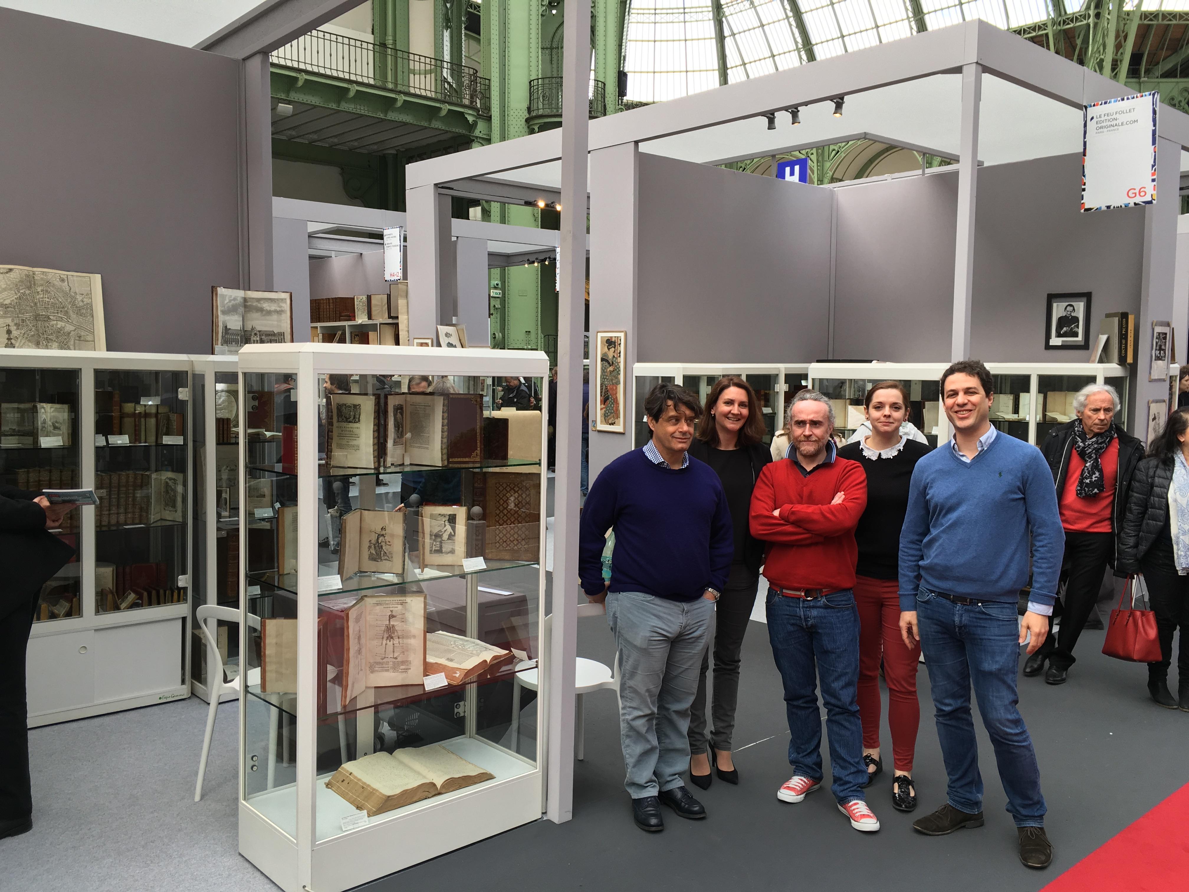 Das Feu Follet Team zu Ihren Diensten auf der Internationalen Ausstellung des alten Buches im Grand Palais!