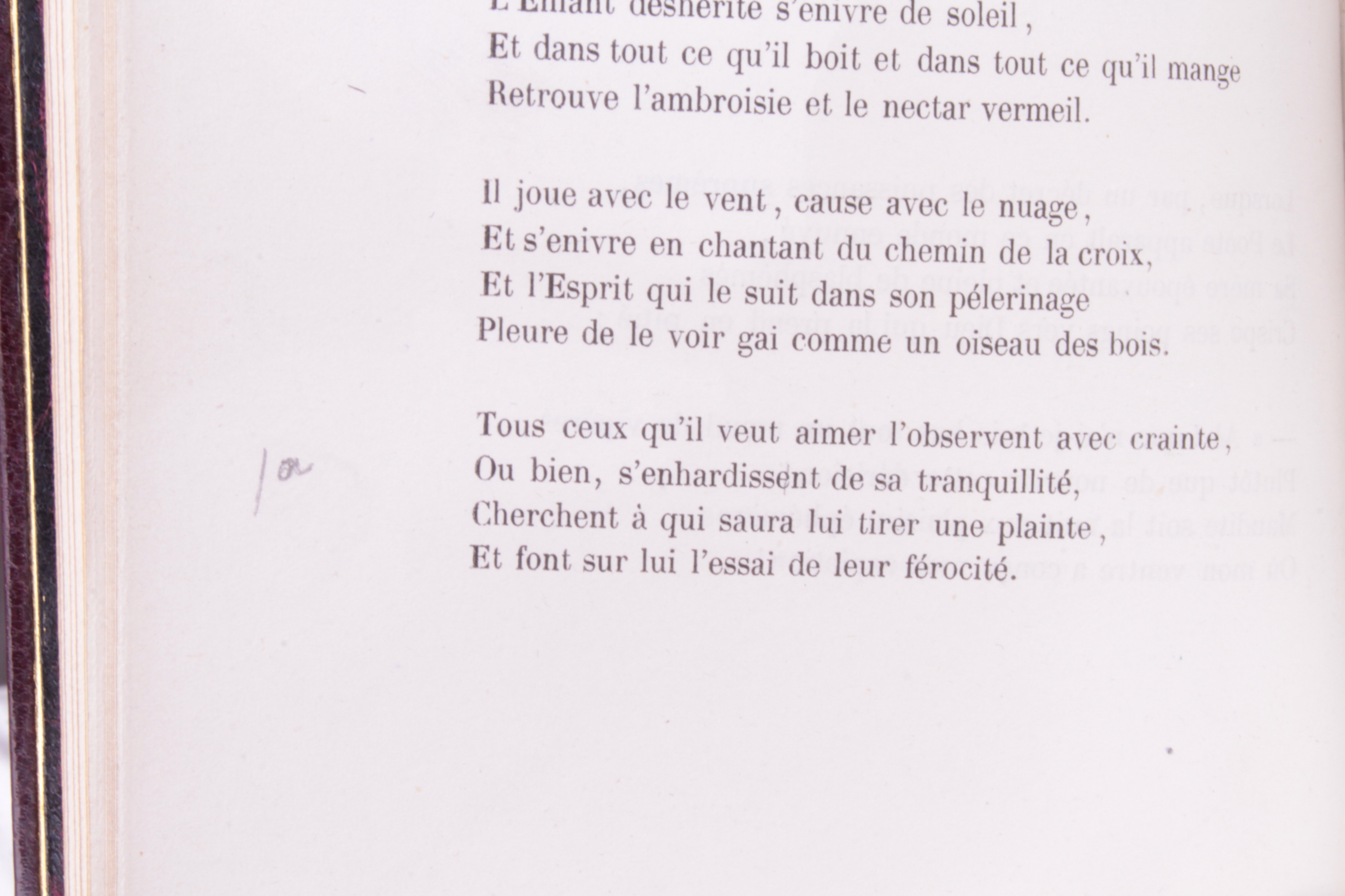 Fleurs du mal 1857 correction manuscrite de Baudelaire
