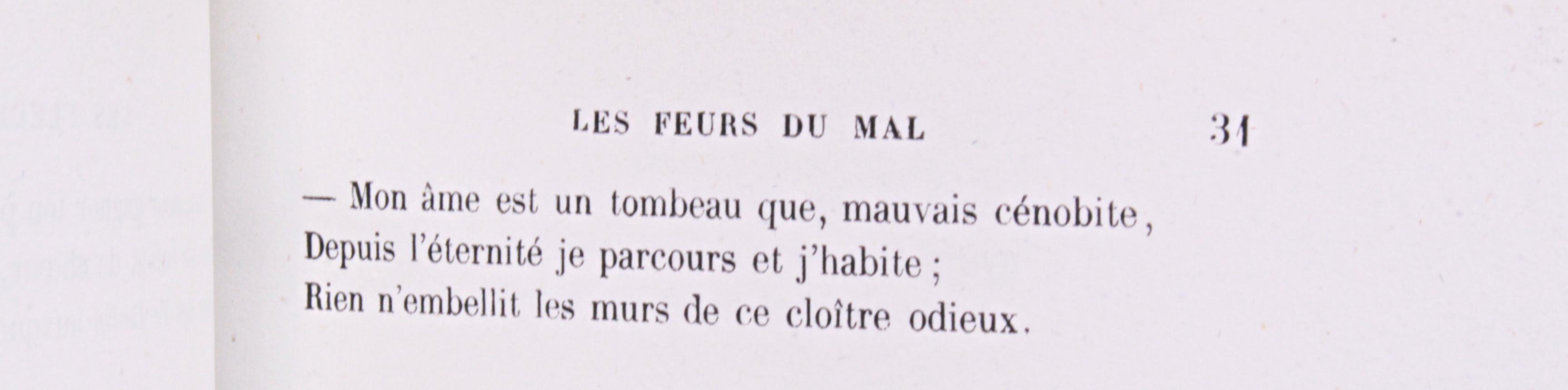 Faute à Feurs du Mal Baudelaire Fleurs du Mal 1857
