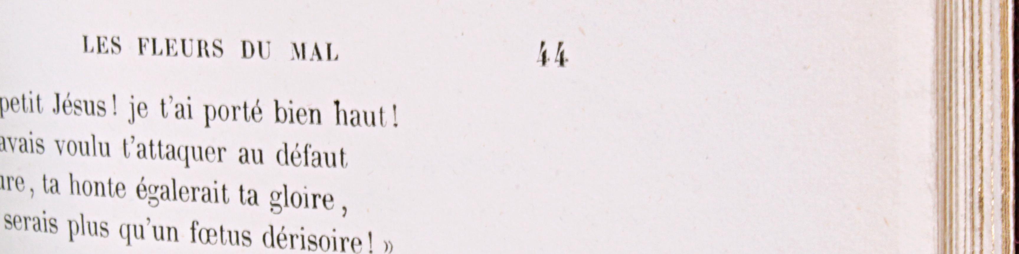 Erreur de pagination Baudelaire Fleurs du mal 1857