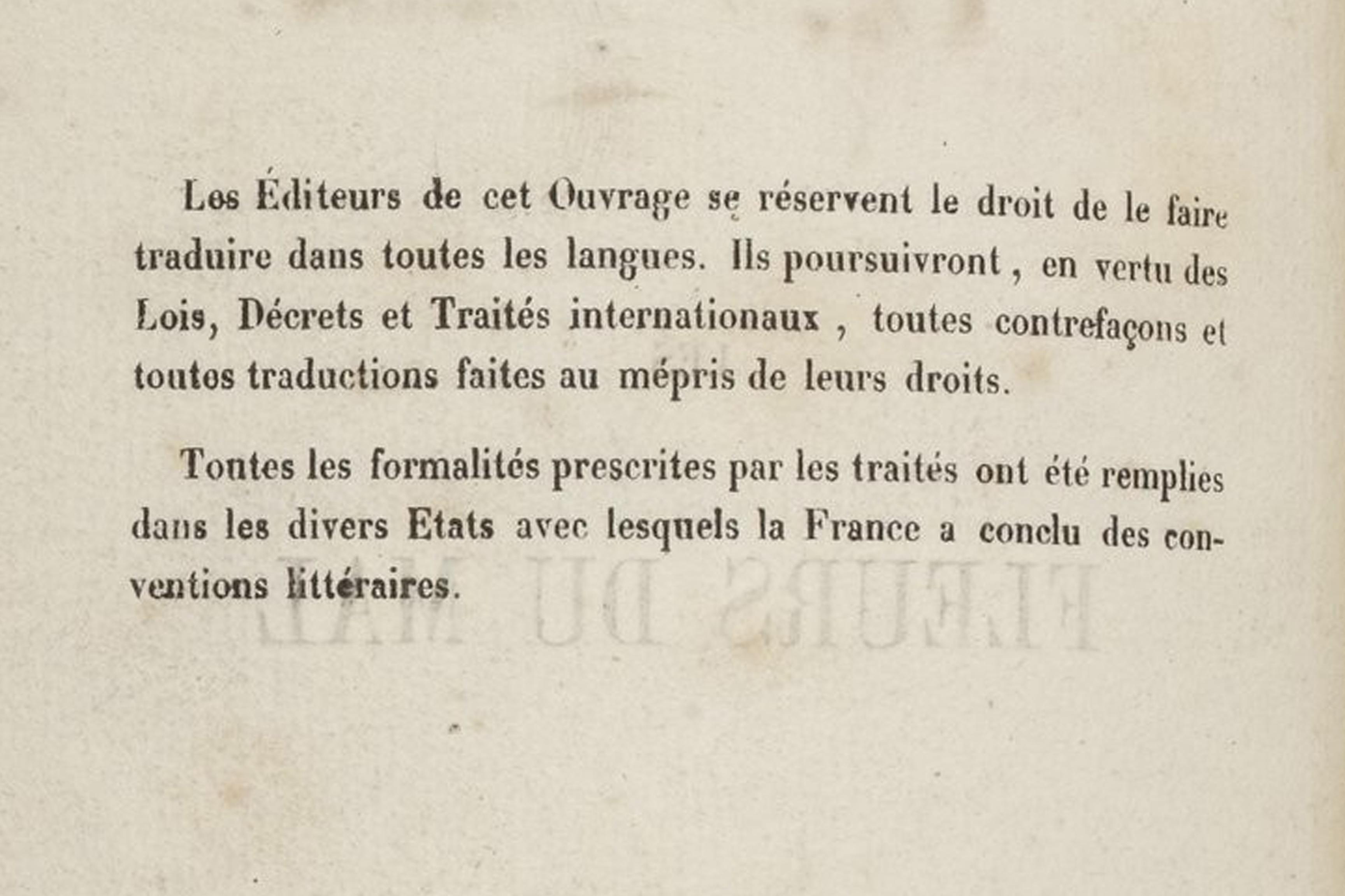 Baudelaire Fleurs du mal sur Hollande 1857 avertissement